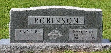 ROBINSON, MARY ANN - King William County, Virginia   MARY ANN ROBINSON - Virginia Gravestone Photos
