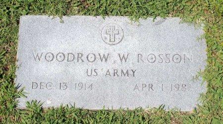 ROSSON, WOODROW W. - King William County, Virginia   WOODROW W. ROSSON - Virginia Gravestone Photos