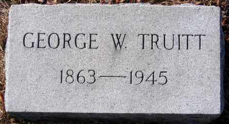 TRUITT, GEORGE W. - King William County, Virginia   GEORGE W. TRUITT - Virginia Gravestone Photos