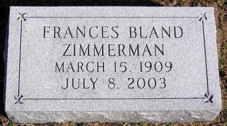 ZIMMERMAN, FRANCES - King William County, Virginia | FRANCES ZIMMERMAN - Virginia Gravestone Photos