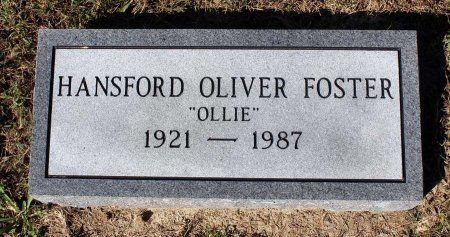 FOSTER, HANSFORD OLIVER - Lancaster County, Virginia | HANSFORD OLIVER FOSTER - Virginia Gravestone Photos