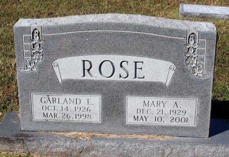 ROSE, GARLAND E. - Lancaster County, Virginia | GARLAND E. ROSE - Virginia Gravestone Photos