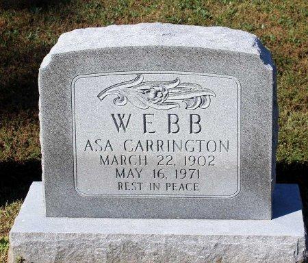 WEBB, ASA CARRINGTON - Lancaster County, Virginia | ASA CARRINGTON WEBB - Virginia Gravestone Photos