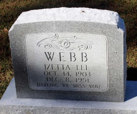 WEBB, IZETTA LEE - Lancaster County, Virginia | IZETTA LEE WEBB - Virginia Gravestone Photos