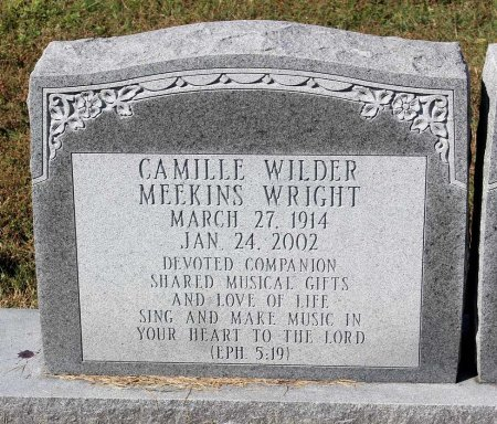 WRIGHT, CAMILLE WILDER MEEKINS - Lancaster County, Virginia | CAMILLE WILDER MEEKINS WRIGHT - Virginia Gravestone Photos