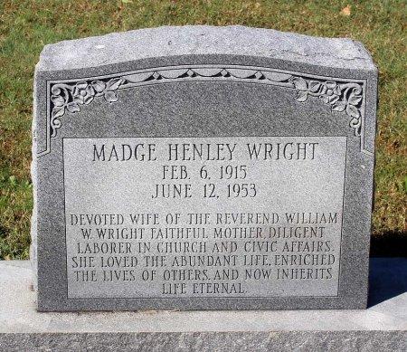 HENLEY WRIGHT, MADGE - Lancaster County, Virginia   MADGE HENLEY WRIGHT - Virginia Gravestone Photos