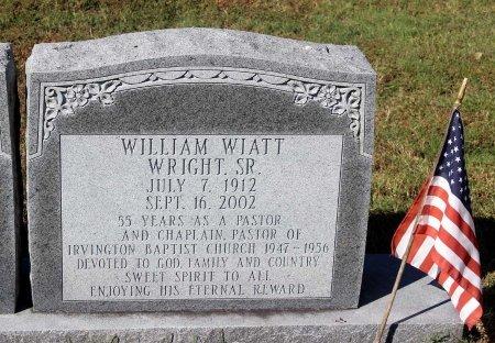 WRIGHT, WILLIAM WIATT SR. - Lancaster County, Virginia   WILLIAM WIATT SR. WRIGHT - Virginia Gravestone Photos