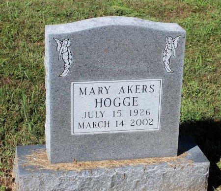 AKERS HOGGE, MARY - Lancaster County, Virginia | MARY AKERS HOGGE - Virginia Gravestone Photos