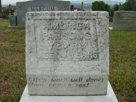 PARSONS YEARY, AMERICA - Lee County, Virginia   AMERICA PARSONS YEARY - Virginia Gravestone Photos