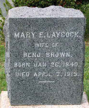 BROWN, MARY E. - Loudoun County, Virginia | MARY E. BROWN - Virginia Gravestone Photos