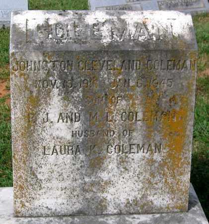 COLEMAN, JOHNSTON CLEVELAND - Loudoun County, Virginia | JOHNSTON CLEVELAND COLEMAN - Virginia Gravestone Photos