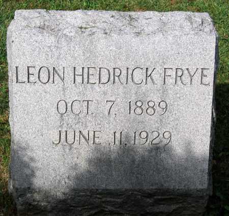 FRYE, LEON HEDRICK - Loudoun County, Virginia   LEON HEDRICK FRYE - Virginia Gravestone Photos