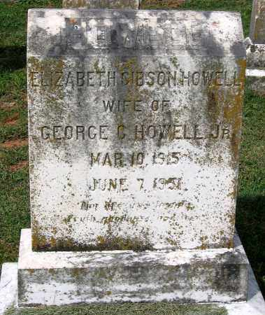 GIBSON HOWELL, ELIZABETH - Loudoun County, Virginia   ELIZABETH GIBSON HOWELL - Virginia Gravestone Photos