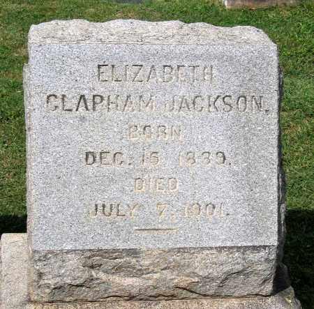 CLAPHAM JACKSON, ELIZABETH - Loudoun County, Virginia | ELIZABETH CLAPHAM JACKSON - Virginia Gravestone Photos