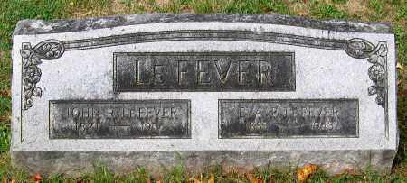LEFEVER, EVA P. - Loudoun County, Virginia | EVA P. LEFEVER - Virginia Gravestone Photos