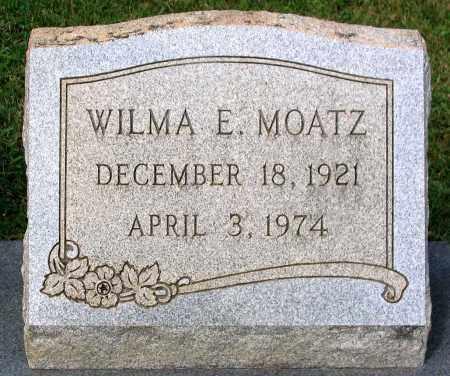 MOATZ, WILMA E. - Loudoun County, Virginia   WILMA E. MOATZ - Virginia Gravestone Photos
