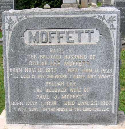 MOFFETT, PAUL J. - Loudoun County, Virginia | PAUL J. MOFFETT - Virginia Gravestone Photos