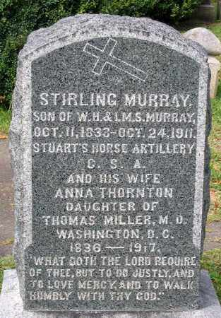 MURRAY, ANNA THORNTON - Loudoun County, Virginia | ANNA THORNTON MURRAY - Virginia Gravestone Photos