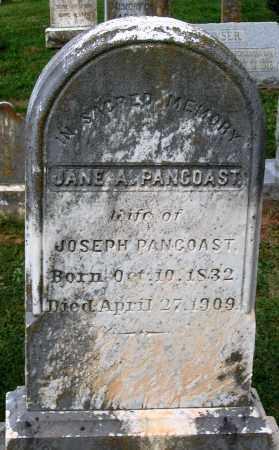 PANCOAST, JANE A. - Loudoun County, Virginia | JANE A. PANCOAST - Virginia Gravestone Photos