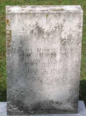 RILEY, LOWELL MEEKER - Loudoun County, Virginia | LOWELL MEEKER RILEY - Virginia Gravestone Photos