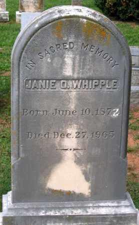 WHIPPLE, JANIE O. - Loudoun County, Virginia | JANIE O. WHIPPLE - Virginia Gravestone Photos