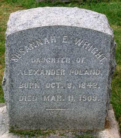 POLAND WRIGHT, SUSANNAH E. - Loudoun County, Virginia   SUSANNAH E. POLAND WRIGHT - Virginia Gravestone Photos