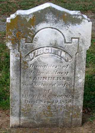 SAUNDERS YOUNG, VIRGINIA - Loudoun County, Virginia | VIRGINIA SAUNDERS YOUNG - Virginia Gravestone Photos
