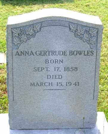 BOWLES, ANNA GERTRUDE - Louisa County, Virginia   ANNA GERTRUDE BOWLES - Virginia Gravestone Photos
