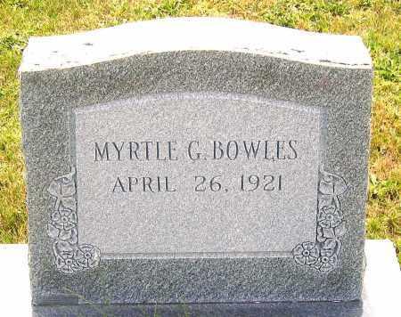 BOWLES, MYRTLE G. - Louisa County, Virginia | MYRTLE G. BOWLES - Virginia Gravestone Photos