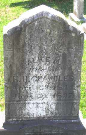 CHANDLER, ALICE M. - Louisa County, Virginia   ALICE M. CHANDLER - Virginia Gravestone Photos