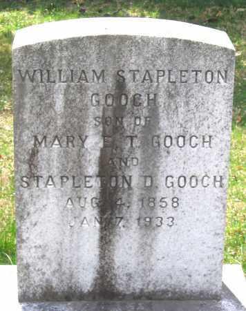GOOCH, WILLIAM STAPLETON - Louisa County, Virginia | WILLIAM STAPLETON GOOCH - Virginia Gravestone Photos