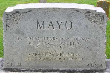 MAYO, GEORGE HENRY IVANHOE - Louisa County, Virginia   GEORGE HENRY IVANHOE MAYO - Virginia Gravestone Photos