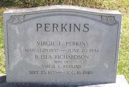 RICHARDSON PERKINS, B. ISLA - Louisa County, Virginia | B. ISLA RICHARDSON PERKINS - Virginia Gravestone Photos
