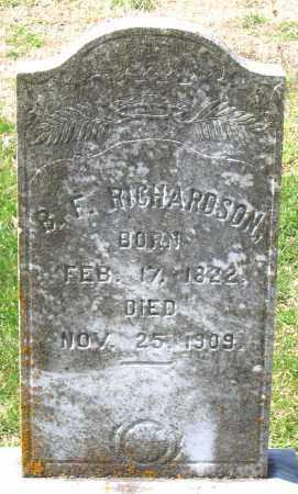RICHARDSON, BENJAMIN F. - Louisa County, Virginia | BENJAMIN F. RICHARDSON - Virginia Gravestone Photos