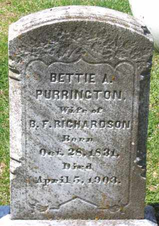 RICHARDSON, BETTIE A. - Louisa County, Virginia | BETTIE A. RICHARDSON - Virginia Gravestone Photos