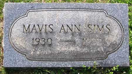 SIMS, MAVIS ANN - Louisa County, Virginia | MAVIS ANN SIMS - Virginia Gravestone Photos