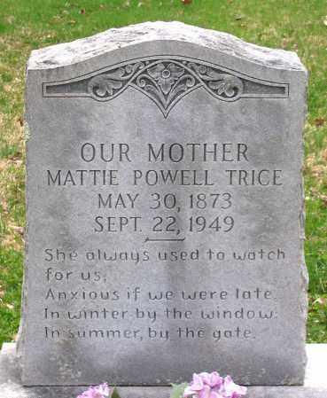 POWELL TRICE, MATTIE - Louisa County, Virginia | MATTIE POWELL TRICE - Virginia Gravestone Photos