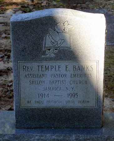 BANKS, TEMPLE E. - Middlesex County, Virginia   TEMPLE E. BANKS - Virginia Gravestone Photos