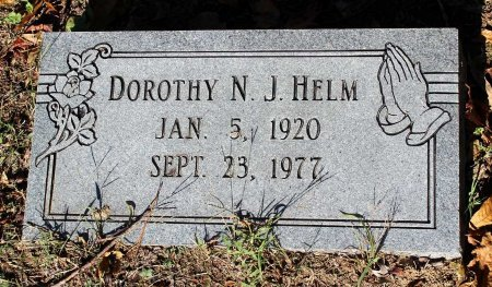 HELM, DOROTHY N. J. - Middlesex County, Virginia   DOROTHY N. J. HELM - Virginia Gravestone Photos