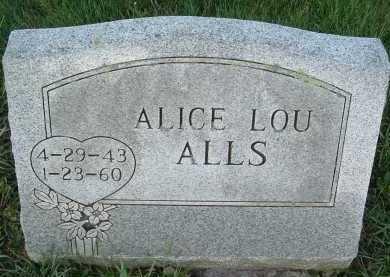 ALLS, ALICE LOU - Montgomery County, Virginia   ALICE LOU ALLS - Virginia Gravestone Photos