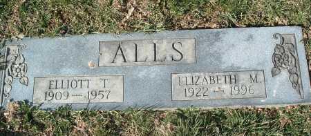 ALLS, ELLIOTT T. - Montgomery County, Virginia | ELLIOTT T. ALLS - Virginia Gravestone Photos