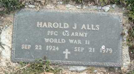 ALLS, HAROLD J. - Montgomery County, Virginia   HAROLD J. ALLS - Virginia Gravestone Photos