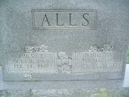ALLS, DOSHIE A. - Montgomery County, Virginia | DOSHIE A. ALLS - Virginia Gravestone Photos