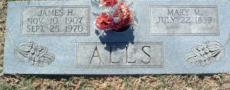 ALLS, JAMES H. - Montgomery County, Virginia   JAMES H. ALLS - Virginia Gravestone Photos