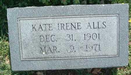ALLS, KATE IRENE - Montgomery County, Virginia | KATE IRENE ALLS - Virginia Gravestone Photos