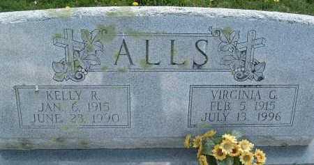 ALLS, VIRGINIA G. - Montgomery County, Virginia | VIRGINIA G. ALLS - Virginia Gravestone Photos
