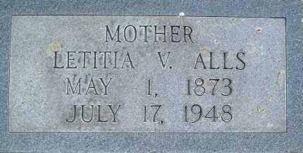 ALLS, LETITIA V. - Montgomery County, Virginia   LETITIA V. ALLS - Virginia Gravestone Photos