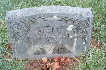 ALLS, MARY ELIZABETH - Montgomery County, Virginia | MARY ELIZABETH ALLS - Virginia Gravestone Photos