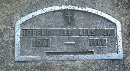 ALLS, ROBERT LEE JR. - Montgomery County, Virginia   ROBERT LEE JR. ALLS - Virginia Gravestone Photos