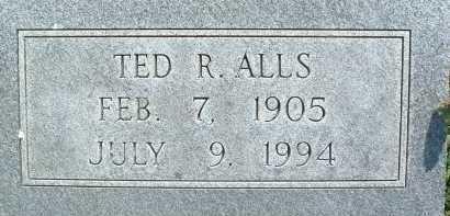 ALLS, TED R. - Montgomery County, Virginia   TED R. ALLS - Virginia Gravestone Photos